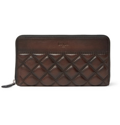 Berluti - Quilted Leather Zip-Around Wallet