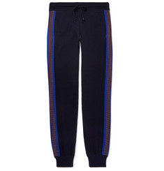 Missoni Slim-Fit Tapered Stripe-Trimmed Wool Sweatpants