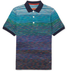 Missoni Slim-Fit Space-Dyed Cotton-Piqué Polo Shirt