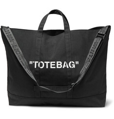 Off-White Printed Canvas Tote Bag