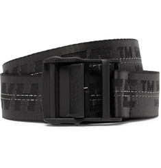Off-White - 3.5cm Black Industrial Canvas Belt