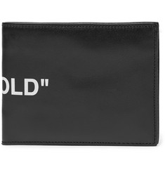 Off-White - Printed Leather Bifold Wallet