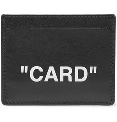 Off-White - Printed Leather Cardholder