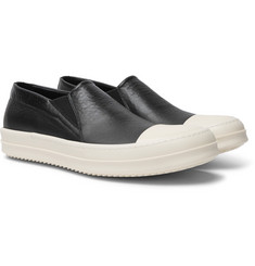 Rick Owens - Boat Leather Slip-On Sneakers