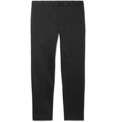 Sandro Cropped Tapered Stretch-Cotton Gabardine Chinos