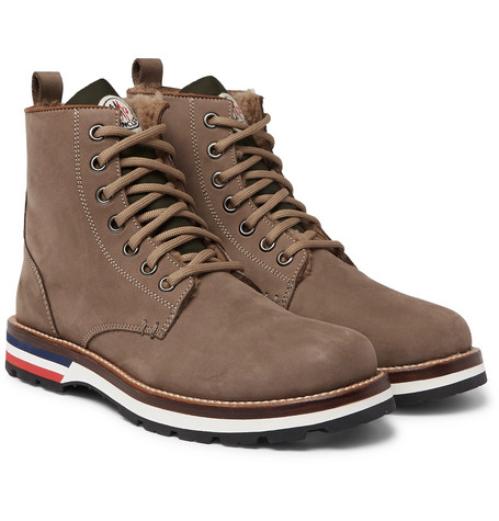 New Vancouver Shearling Lined Suede And Shell Boots by Moncler