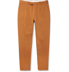 Sandro Cropped Pleated Cotton-Gabardine Trousers