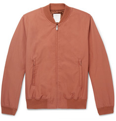 Sandro Monaco Cotton-Blend Twill Bomber Jacket