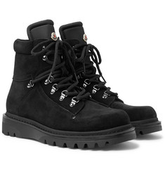 Moncler Egide Suede and Nylon Hiking Boots
