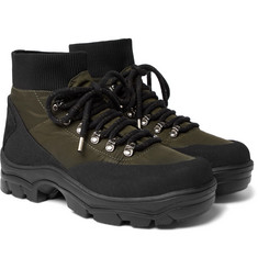 Moncler - Clement Suede-Trimmed Shell Hiking Boots