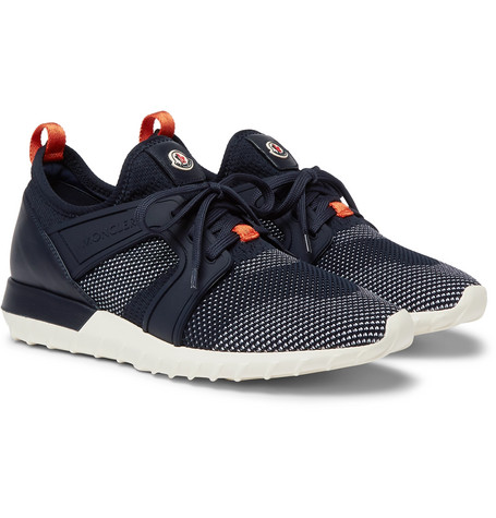 Moncler Rubber Mesh and Emilien Leather Sneakers Trimmed rWvagrq07x
