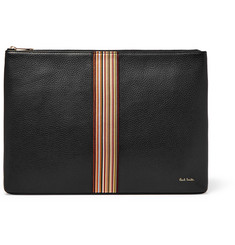 Paul Smith Webbing-Trimmed Full-Grain Leather Pouch