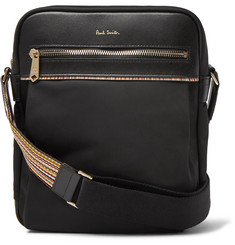 Paul Smith - Webbing and Leather-Trimmed Shell Messenger Bag
