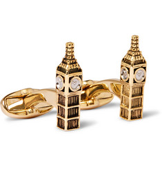 Paul Smith - Big Ben Gold and Silver-Tone Cufflinks