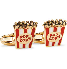 Paul Smith - Popcorn Enamelled Gold-Tone Cufflinks