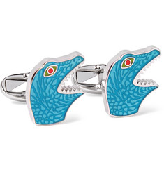 Paul Smith - Dinosaur Enamelled Silver-Tone Cufflinks