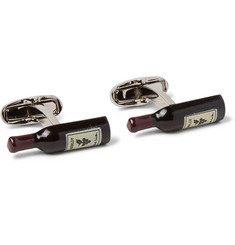 Paul Smith - Enamelled Silver-Tone Cufflinks