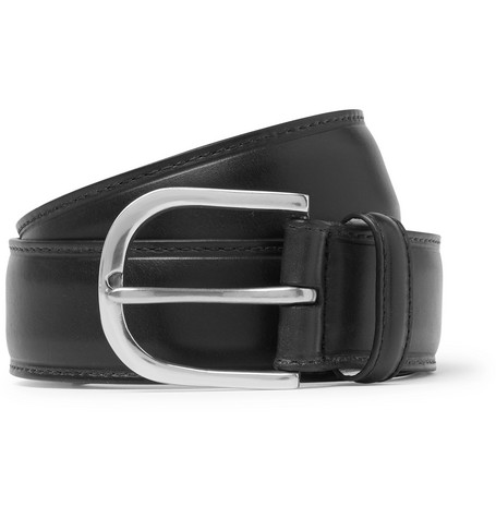 3.5cm Black Leather Belt by Paul Smith