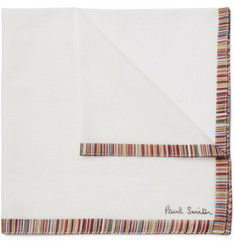 Paul Smith - Striped Cotton-Voile Pocket Square