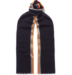 Paul Smith Artist Striped Virgin Wool and Silk-Blend Scarf