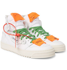 Off-White - Low 3.0 Leather and Canvas High-Top Sneakers