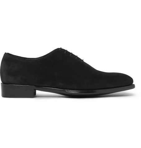 f62a954c980486 Kingsman George Cleverley James Suede Oxford Shoes In Black ...