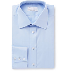 Kingsman + Turnbull & Asser Blue Herringbone Cotton Shirt