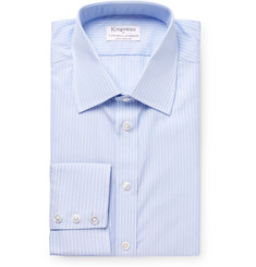 Kingsman + Turnbull & Asser Light-Blue Slim-Fit Striped Cotton Shirt