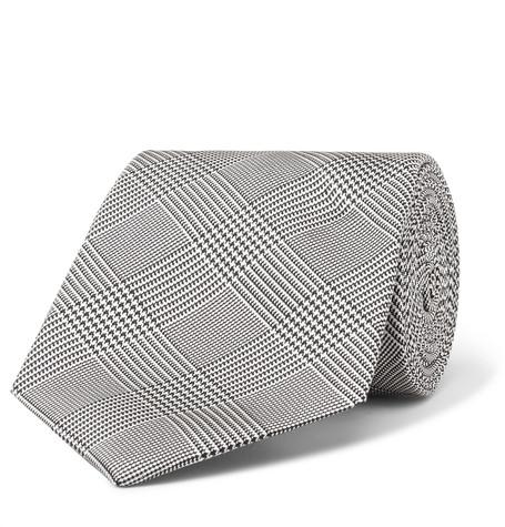 022cf00a8e36 Kingsman + Drake's 8Cm Prince Of Wales Checked Silk Tie - Gray - One Siz
