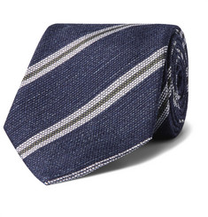 Kingsman + Drake's 8cm Striped Silk and Linen-Blend Tie