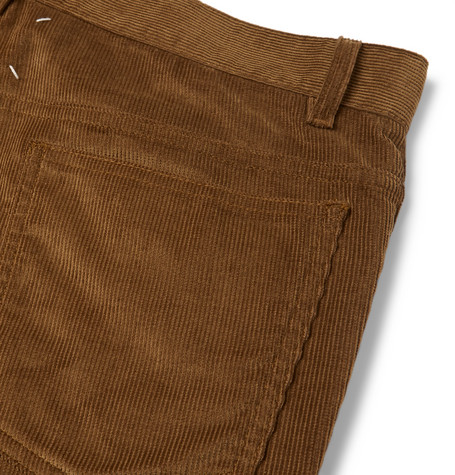 Slim Fit Cotton Corduroy Trousers by Maison Margiela