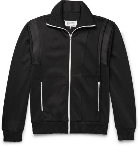 Satin Panelled Woven Track Jacket by Maison Margiela