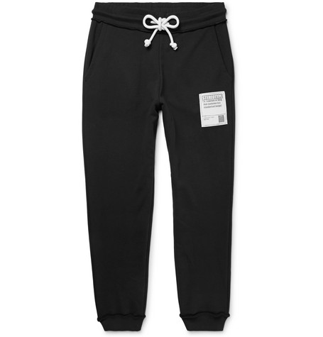 Tapered Appliquéd Loopback Cotton-jersey Sweatpants Maison Martin Margiela Cheap 2018 Newest Clearance Store Cheap Online Latest Collections Cheap Price zGy1f6S
