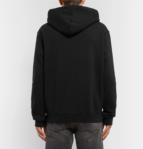 Embroidered Printed Loopback Cotton Jersey Hoodie by Maison Margiela