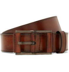 Berluti 3.5cm Brown Leather Belt