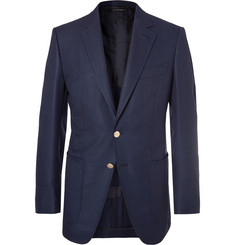 TOM FORD - Navy O'Connor Slim-Fit Wool And Mohair-Blend Hopsack Blazer