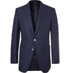 탐 포드 Tom Ford Navy OConnor Slim-Fit Wool And Mohair-Blend Hopsack Blazer,Navy