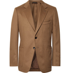 TOM FORD Camel O'Conor Slim-Fit Cashmere Blazer