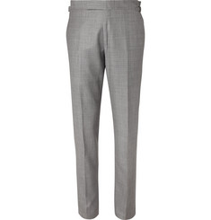 TOM FORD Grey Slim-Fit Wool-Sharkskin Suit Trousers