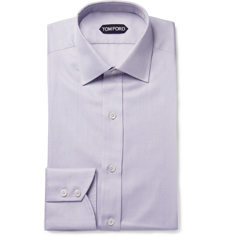 Tom Ford Cottons LILAC SLIM-FIT COTTON-TWILL SHIRT