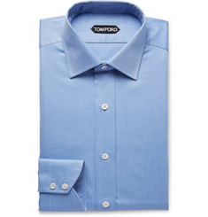 TOM FORD Light-Blue Slim-Fit Cotton-Twill Shirt