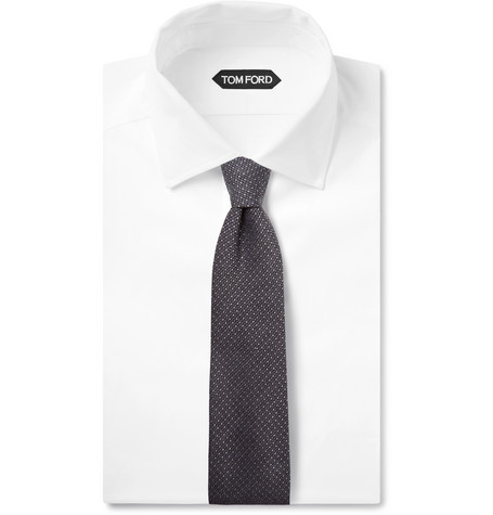 8cm Pin Dot Wool And Silk Blend Tie by Tom Ford