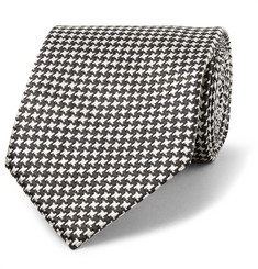 TOM FORD 8cm Houndstooth Silk-Jacquard Tie