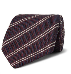 TOM FORD 8cm Striped Knitted Silk Tie