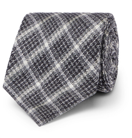 8cm Checked Silk And Wool-blend Tie Tom Ford