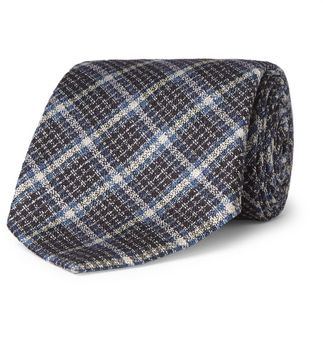 8cm Checked Silk And Wool Blend Tie by Tom Ford