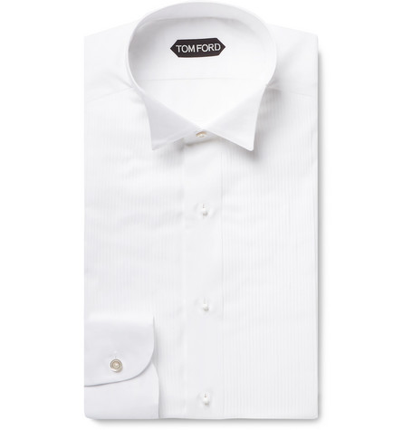white-slim-fit-wing-collar-bib-front-cotton-voile-shirt by tom-ford