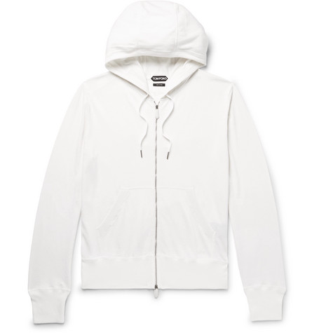 Cotton Zip Silk Hoodie Ford blend up Tom And Cashmere Black Z6qWqrSPn