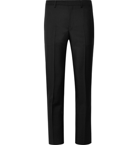 Slim Fit Wool And Mohair Blend Trousers by Givenchy