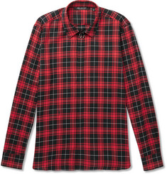 Neil Barrett Embellished Checked Cotton-Poplin Shirt